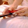 這次甲片走華麗白色金珠+珍珠~