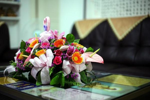 感謝媽媽特地買的甜蜜之花~