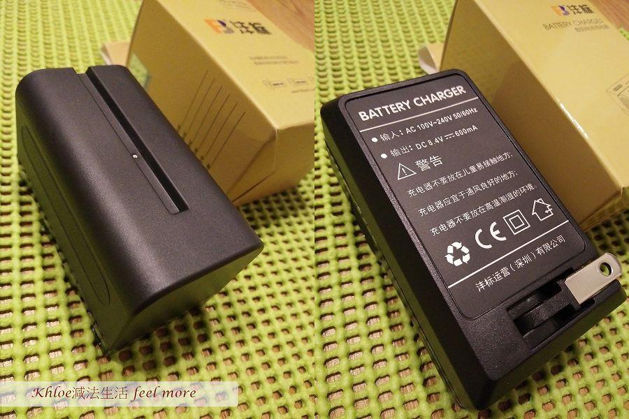 攝影燈電池、充電器需另外加購