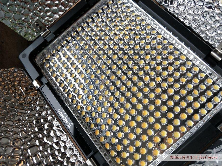 攝影燈光源為LED組成