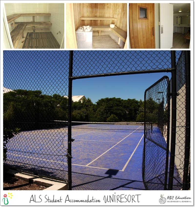 宿舍度假村  有泳池有球場有spa!