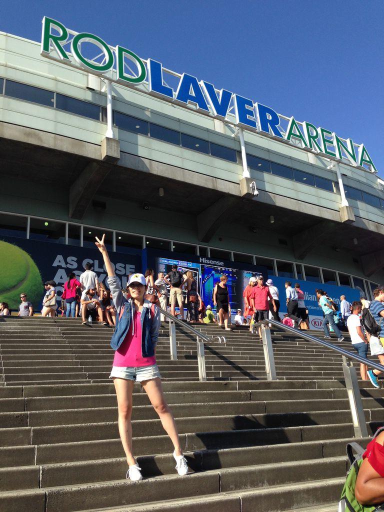 澳網最高殿堂Rod Laver Arena!