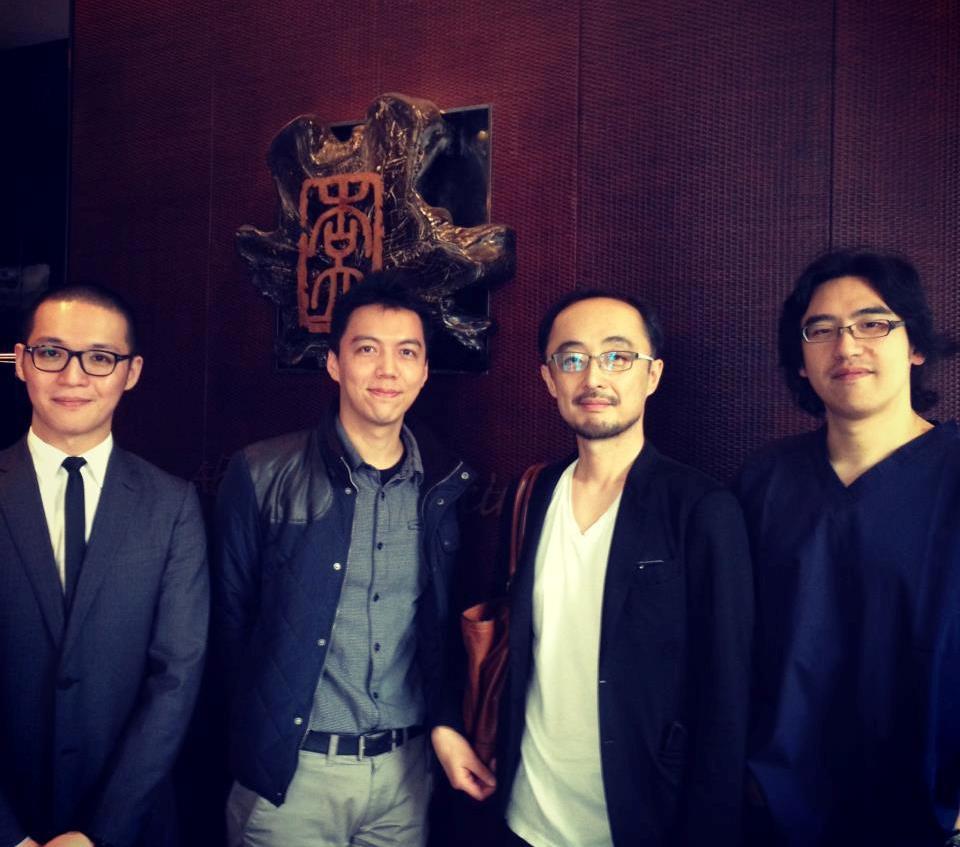 杏立博全醫師群與Dr. Miyata於大廳的合影