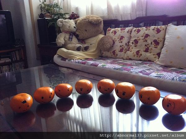 好可愛的橘子們