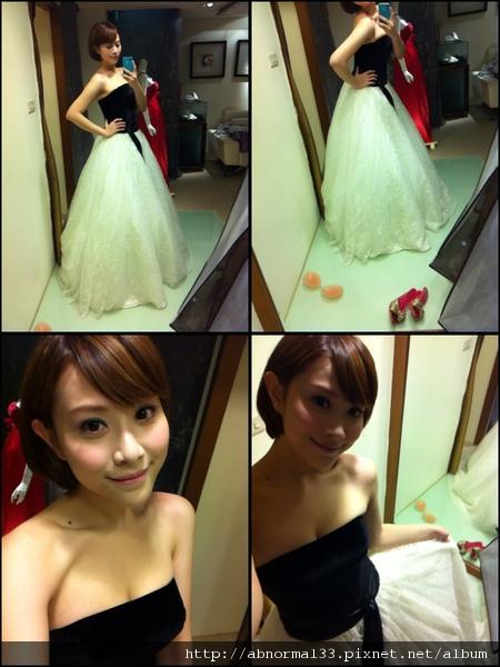 可藍很愛穿婚紗!!!!