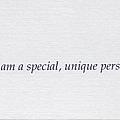 068. I am a special, unique person.