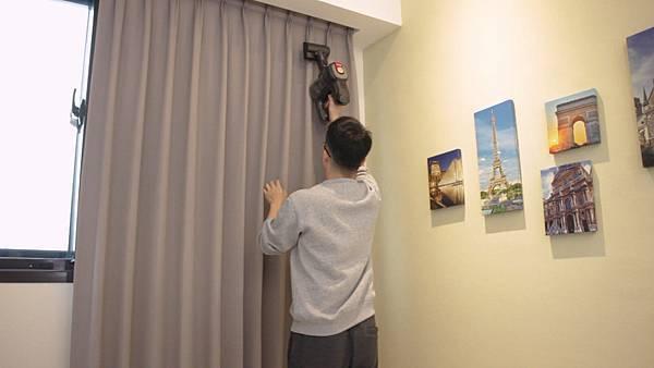 吸塵器吸窗簾