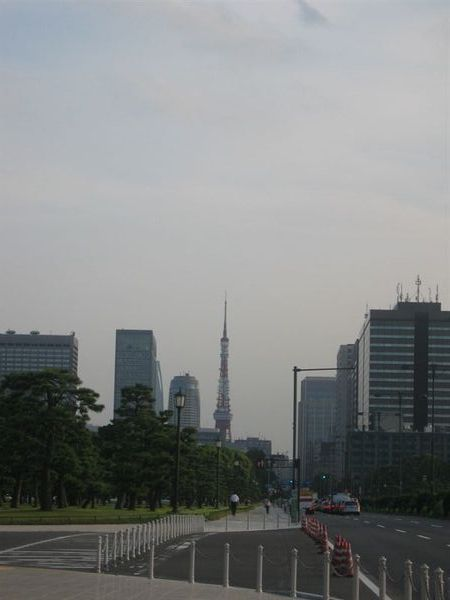 從附近遙望的東京鐵塔