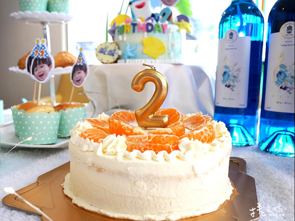 手作生日蛋糕 寶寶蛋糕 氣炸鍋蛋糕 食譜 總統牌鮮奶油26.jpg