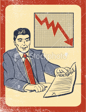 stock-illustration-7464771-mortgage-broker-losing-money