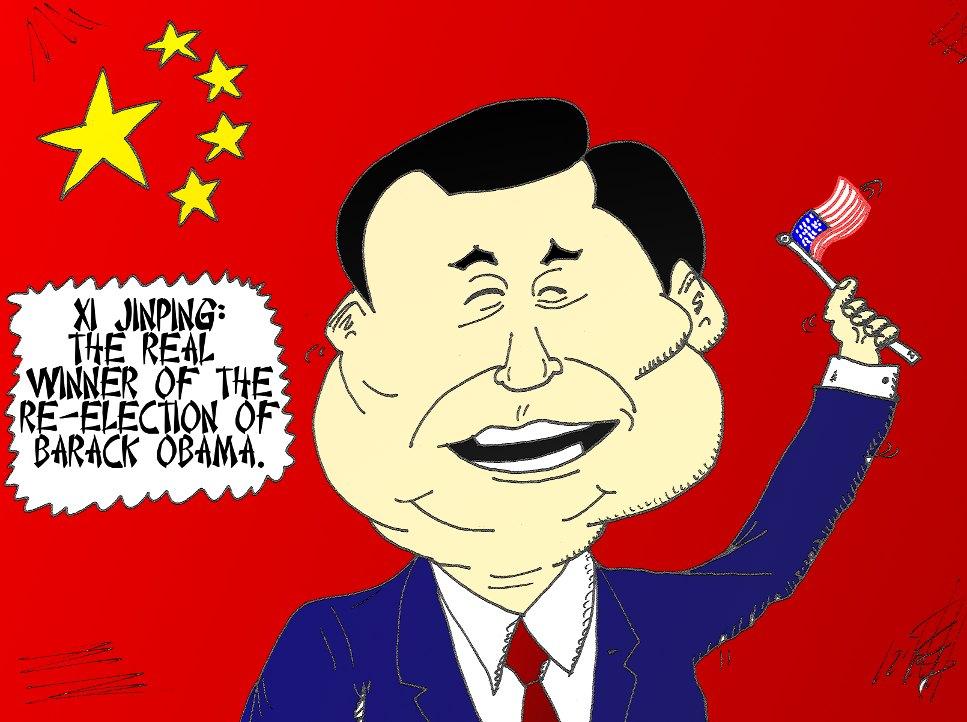 binary-options-news-cartoon-xi-jinping-celebrates-obama-re-election