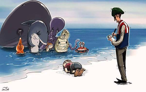 syrian-boy-drowned-mediterranean-tragedy-artists-respond-aylan-kurdi-17__700