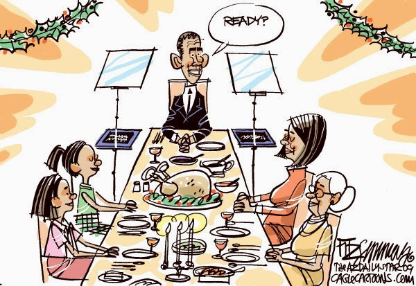 Obama Teleprompter Thanksgiving