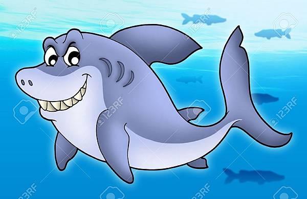 4820601-Smiling-cartoon-shark-color-illustration--Stock-Illustration