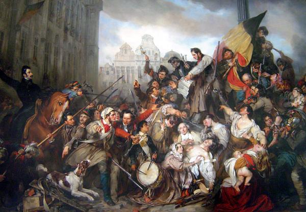 Belgian Revolution, Egide Charles Gustave Wappers, 1834.jpg