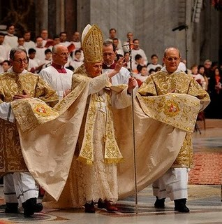 Pope Benedict Gay Flowing Gown Homophobia Catholic Church 