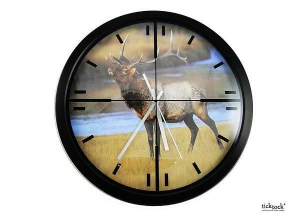 【407-714A 美麗大自然 麋鹿鐘面壁鐘】