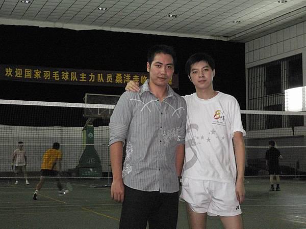 杭州健遠羽球館 - 桑洋+館主-王遲冰-在中策高職