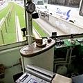 熊本市電駕駛席