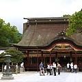 天滿宮社殿與下班巫女