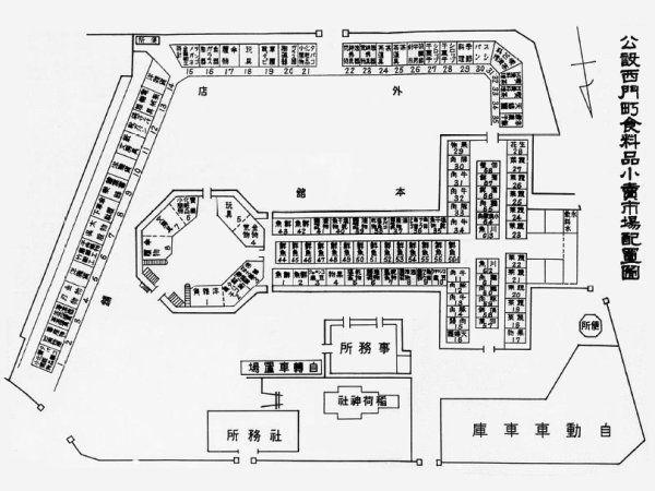 西門市場和稻荷神社