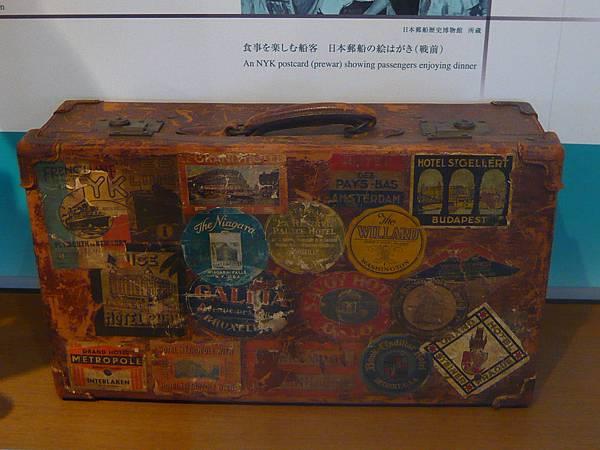 冰川丸上的行李箱