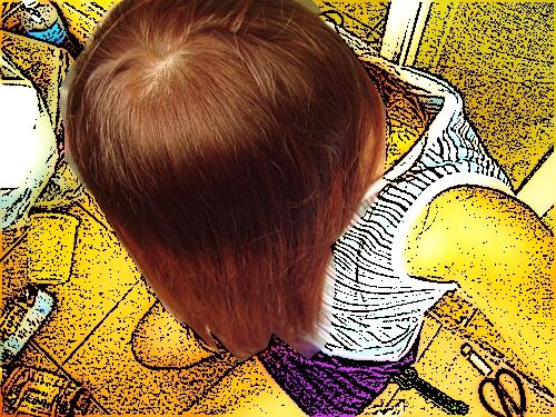 Prttia 泡沫染髮(側面)