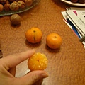 潑開的小橘子