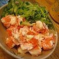 阿萬生魚片魚子沙拉