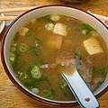 阿萬生魚片味噌湯