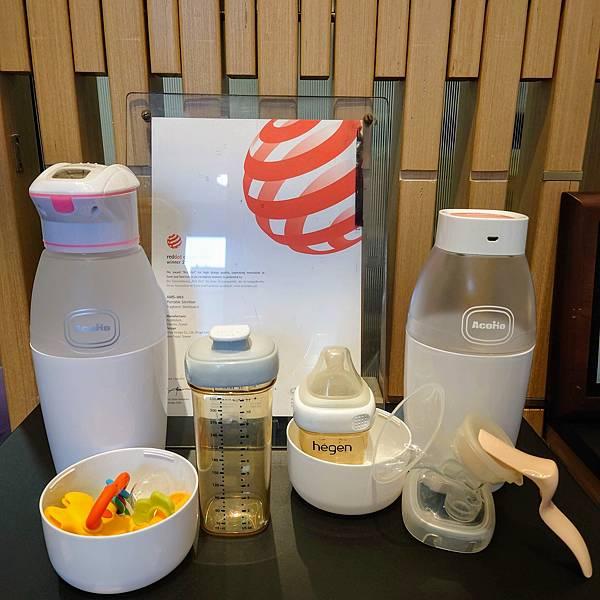 21號店AcoMo奶瓶殺菌器展示區hegen