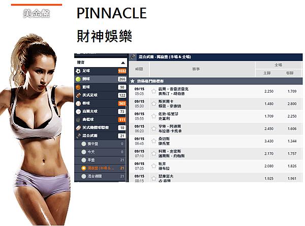 Pinnacle美金盤-財神娛樂