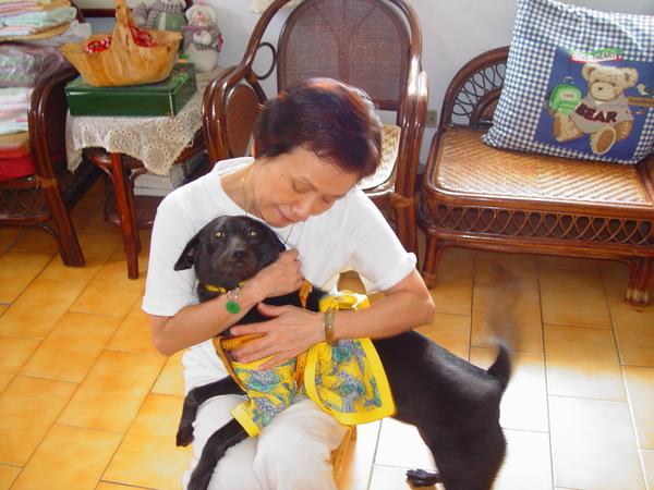 媽媽不怕狗了
