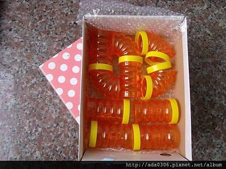 日本Wild寵物鼠套裝接管(橘色)5.5公分