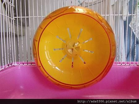 14cm軸蓋分離式滾輪黃色