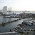 從橫濱王子飯店房間拍出的景觀
