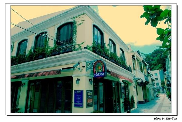 氹仔島官也街巷道中的異國餐廳