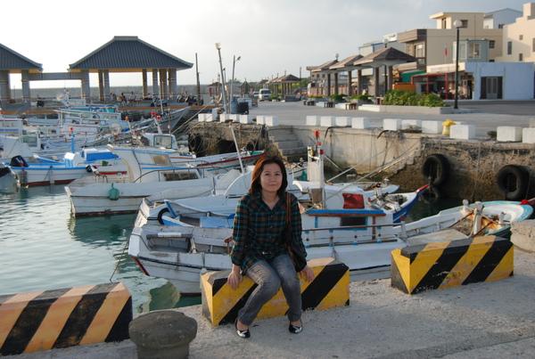 通梁古榕旁的漁港