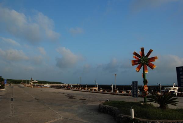 天人菊造型的風車