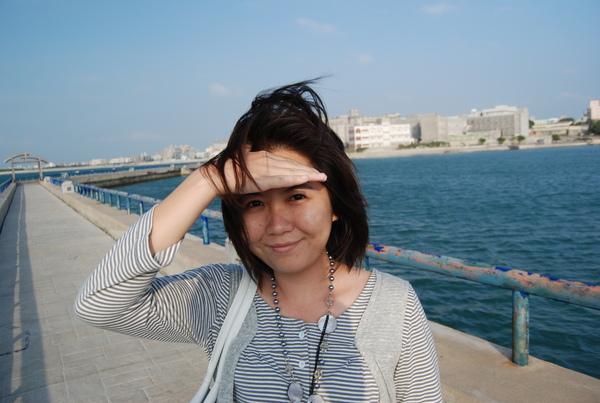 在澎湖的三天頭髮都是亂的
