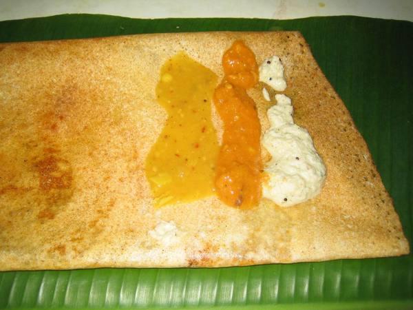 Dosai - 南印度像可麗餅的早餐