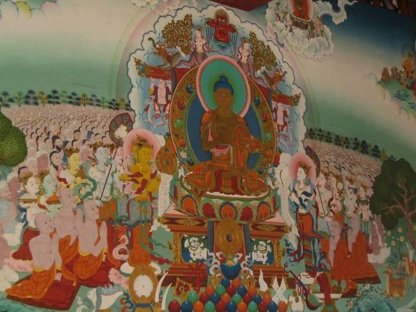 圖博僧院的壁畫