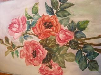 玫瑰,丁韻仙畫,1970年