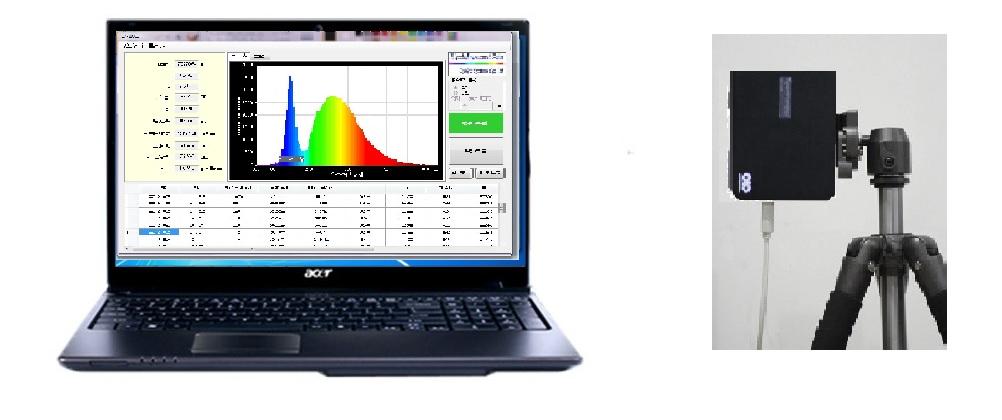 光譜照度計操作畫面 1