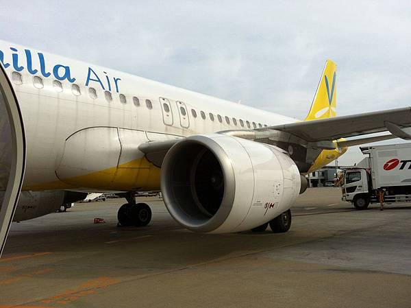 香草紅眼航班於早上7點多抵達東京成田機場第三航廈