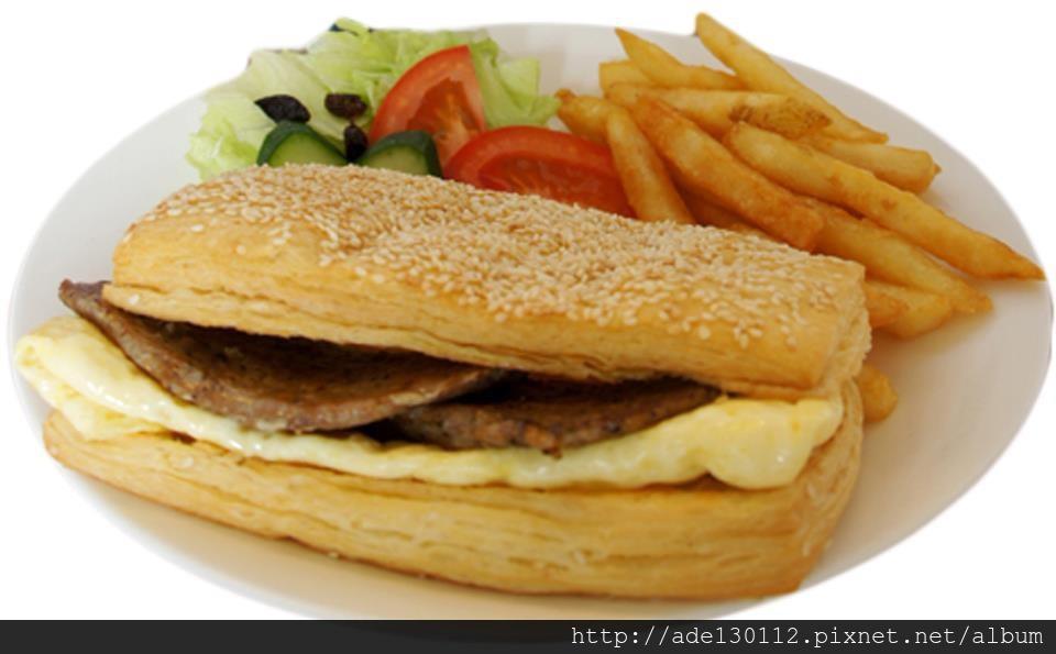 香酥烤肉蛋可頌(Crish BBQ croissant eith egg)
