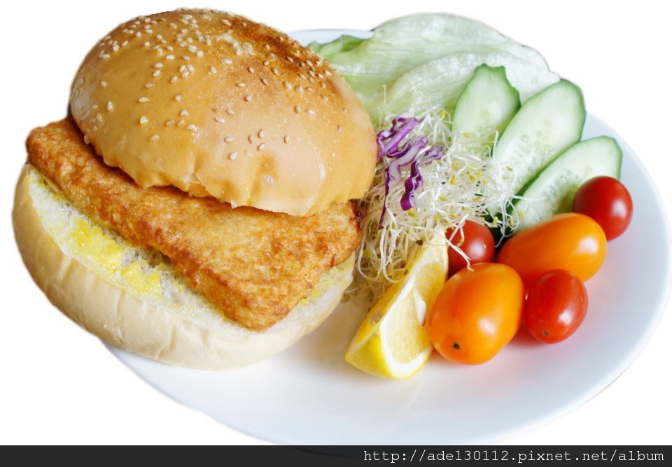 塔塔巴沙鮮魚堡(Fish burger with tartar sauce)