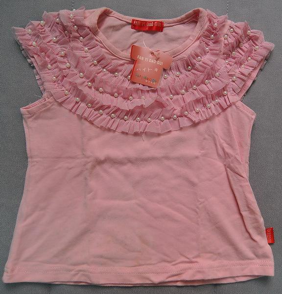 (n)桃粉色珠珠女童上衣(9號)