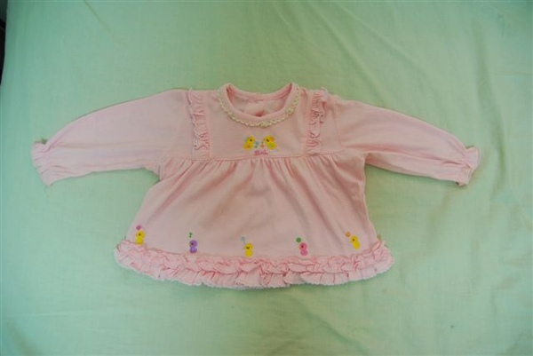 粉紅長袖上衣(10元)