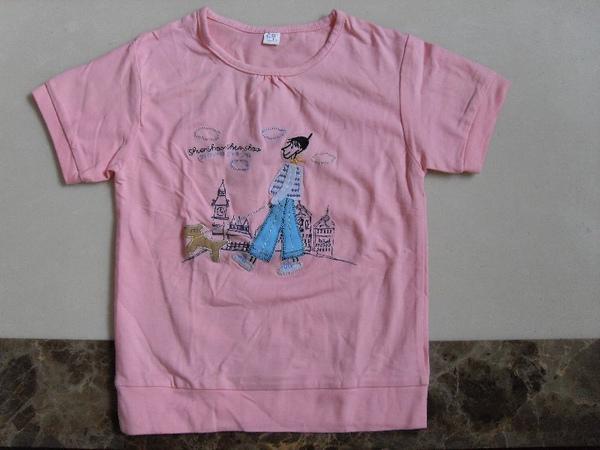 (n)全新女童粉紅T恤上衣(11號)圖二